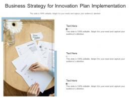 Business Strategy For Innovation Plan Implementation Infographic Template
