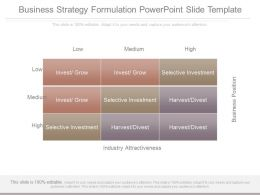 Business Strategy Formulation Powerpoint Slide Template
