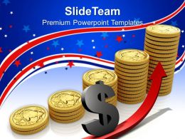 Business Strategy Formulation Powerpoint Templates Gold American Growth Ppt Slides