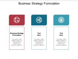 Business Strategy Formulation Ppt Powerpoint Presentation Infographic Template Gallery Cpb