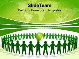 Business Strategy Formulation Templates Green People Holding Hands Teamwork Ppt Process Powerpoint