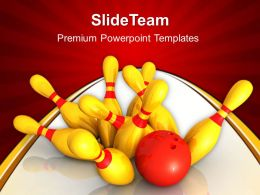 Business Strategy Game Tips Powerpoint Templates Bowling Growth Ppt Slides
