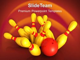 Business Strategy Game Tips Templates Bowling Success Ppt Themes Powerpoint