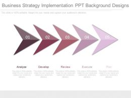 Business Strategy Implementation Ppt Background Designs