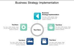 Business Strategy Implementation Ppt Powerpoint Presentation Styles Example Cpb