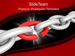 Business Strategy Implementation Templates Broken Chain Link Ppt Slides Powerpoint