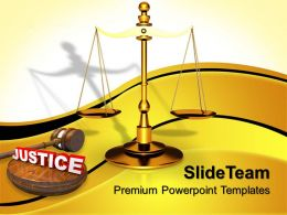 Business Strategy Innovation Powerpoint Templates Law Served Justice Ppt Slides