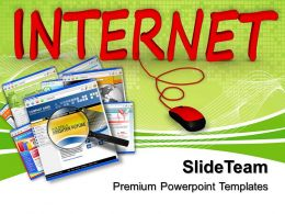 Business Strategy Innovation Templates Internet Connected To Computer Image Ppt Slides Powerpoint
