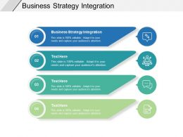 Business Strategy Integration Ppt Powerpoint Presentation Gallery Cpb