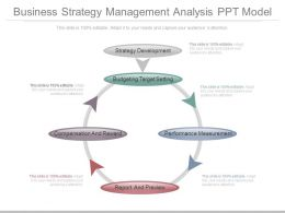 Business Strategy Management Analysis Ppt Model