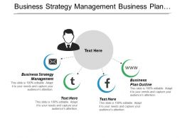 Business Strategy Management Business Plan Outline Cash Financial Statement Cpb