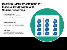 Business Strategy Management Skills Learning Objectives Human Resources Cpb