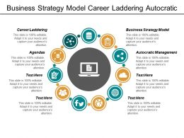 business_strategy_model_career_laddering_autocratic_management_agendas_cpb_Slide01