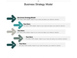 Business Strategy Model Ppt Powerpoint Presentation Gallery Objects Cpb