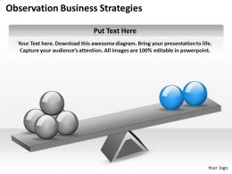 Business Strategy Observation Strategies Powerpoint Templates 0528