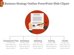 Business Strategy Outline Powerpoint Slide Clipart