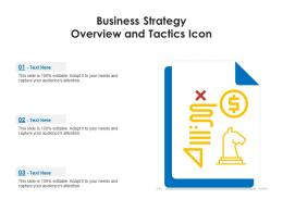 Business Strategy Overview And Tactics Icon