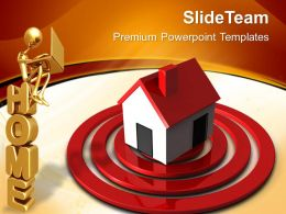 Business Strategy Plan Powerpoint Templates Home On Target Real Estate Sale Ppt Slides