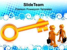 Business Strategy Plan Powerpoint Templates House Key Security Ppt Themes