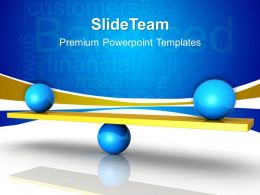 Business Strategy Plan Template Balanced Between Targets And Image Ppt Slide Powerpoint