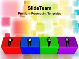 Business Strategy Powerpoint Templates Building Blocks Teamwork Ppt Slides