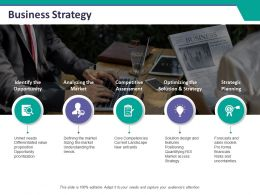 Business Strategy Ppt Summary Example Topics