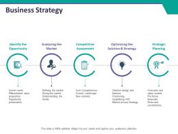 Business Strategy Ppt Summary Layout