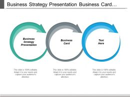Business Strategy Presentation Business Card Optimizing Business Cpb