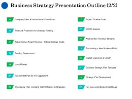 Business Strategy Presentation Outline Growth Ppt Powerpoint Good