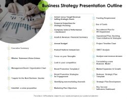 Business Strategy Presentation Outline Ppt Powerpoint Rules