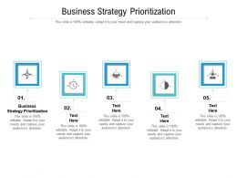 Business Strategy Prioritization Ppt Powerpoint Presentation Outline Images Cpb
