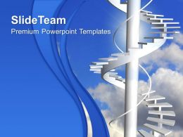 Business Strategy Process Templates Ladder To Paradise Stairs Growth Ppt Powerpoint