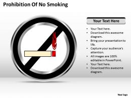 Business Strategy Prohibition Of No Smoking Powerpoint Templates 0528