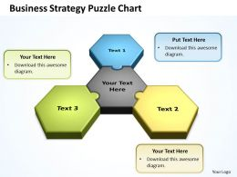Business Strategy Puzzle Chart Powerpoint templates 0812
