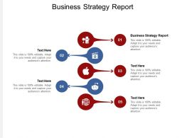 Business Strategy Report Ppt Powerpoint Presentation Styles Grid Cpb