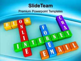 Business Strategy Review Powerpoint Templates Crossword01 Internet Ppt Layouts