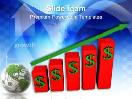 Business Strategy Review Powerpoint Templates Doller Growth Ppt Themes