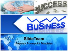 Business Strategy Review Templates Global Abstract Success Ppt Process Powerpoint