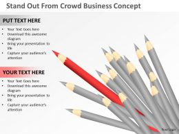 Business Strategy Stand Out From Crowd Concept Powerpoint Templates 0528