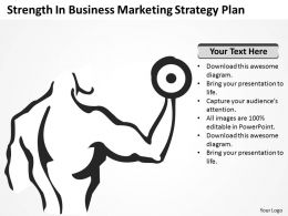 Business Strategy Strength Marketing Plan Powerpoint Slides 0527