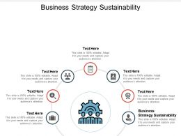 Business Strategy Sustainability Ppt Powerpoint Presentation Icon Cpb