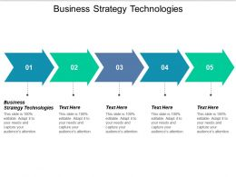 Business Strategy Technologies Ppt Powerpoint Presentation Summary Structure Cpb