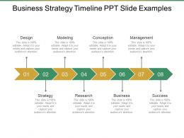 Business Strategy Timeline Ppt Slide Examples