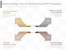 Business Strategy Vision And Goals Example Of Ppt Presentation