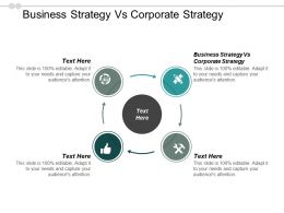 Business Strategy Vs Corporate Strategy Ppt Powerpoint Presentation Ideas Information Cpb