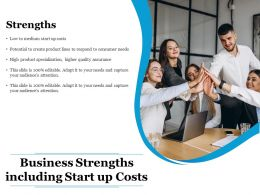 Business Strengths Including Start Up Costs