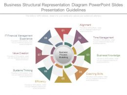 Business Structural Representation Diagram Powerpoint Slides Presentation Guidelines