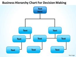 Business Structure Chart Hierarchy For Decision Making Powerpoint Templates 0515