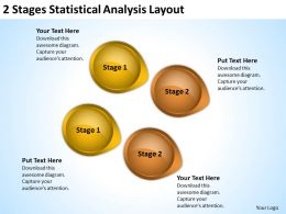Business Structure Diagram 2 Stages Statistical Analysis Layout Powerpoint Templates