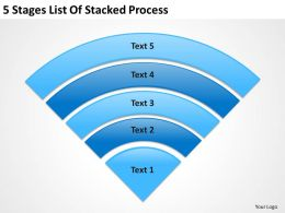 Business Structure Diagram 5 Stages List Of Stacked Process Powerpoint Templates